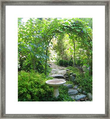 Backbay Fens Arch Framed Print by Bruce Carpenter