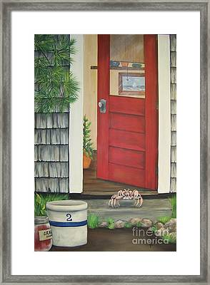 Backdoor Visitors Three  Framed Print by Lin Ruch