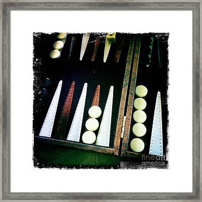 Backgammon Anyone Framed Print by Nina Prommer