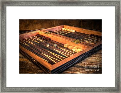 Backgammon Board Framed Print