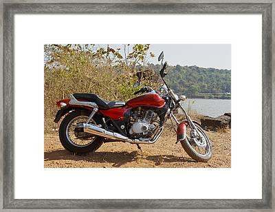 Backless Cruiser Lakeside Framed Print by Kantilal Patel