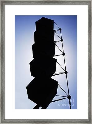 Backlight Structure Framed Print