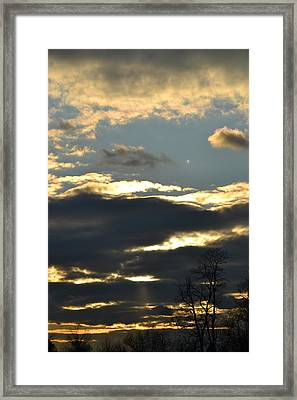 Backlit Clouds Framed Print by Bonnie Myszka