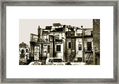 Backside Framed Print by Steven Ainsworth