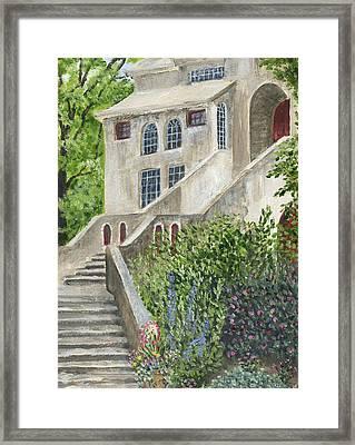Backsteps At Fonthill Framed Print