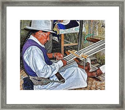 Backstrap Loom - Ecuador Framed Print by Julia Springer