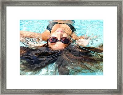 Backstroke II  Framed Print by Leah Silberman