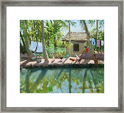 Backwaters India  Framed Print by Andrew Macara