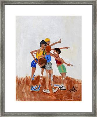Backyard Basketball Framed Print