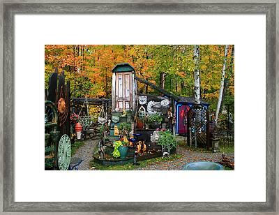 Backyard Craft Show Framed Print