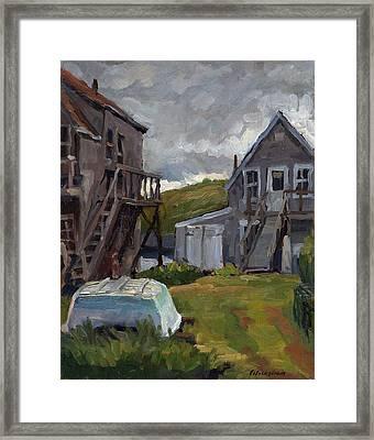 Backyard In Maine Framed Print by Thor Wickstrom