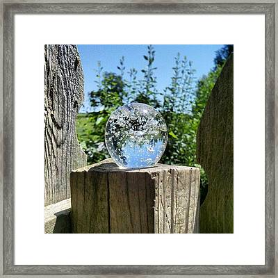 Backyard Magic #crystalball #magic Framed Print