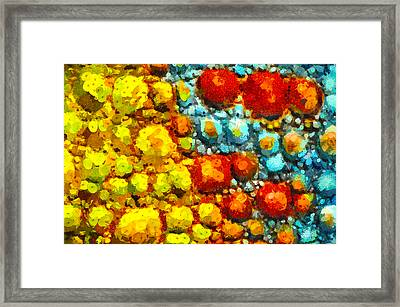 Bacteria 2 Framed Print by Angelina Vick