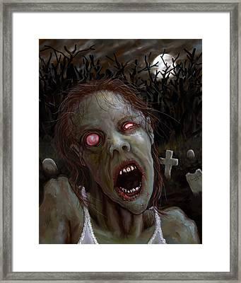 Bad Case Of Pink Eye Framed Print by Jeff Schoettker