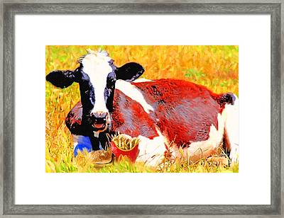 Bad Cow . 7d1279 Framed Print by Wingsdomain Art and Photography