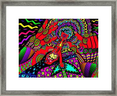 Bad Day - My Brain Is Sore Framed Print by Karen Elzinga
