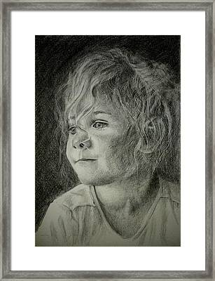 Framed Print featuring the drawing Bad Hair Day Mom by Lynn Hughes