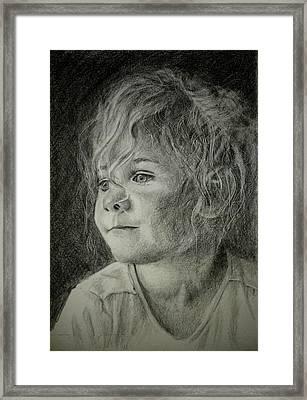 Bad Hair Day Mom Framed Print by Lynn Hughes