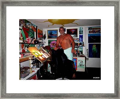 Bad In Da Studio Framed Print