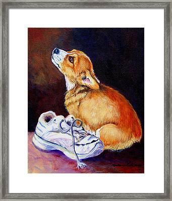 Bad Puppy Pembroke Welsh Corgi Framed Print