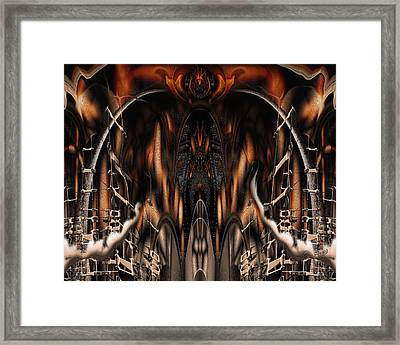 Framed Print featuring the digital art Bad Ride by Steve Sperry
