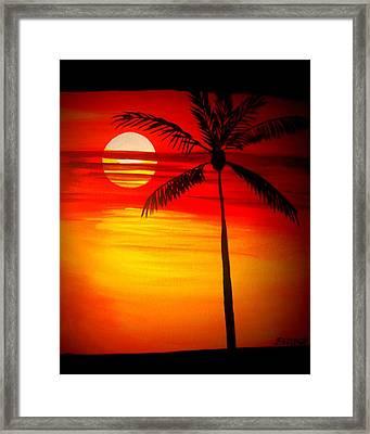 Bad Sunrise Framed Print