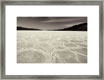 Bad Water Death Valley Framed Print
