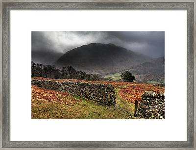Bad Weather Over Seatoller Framed Print by Image by Roger Fleet.