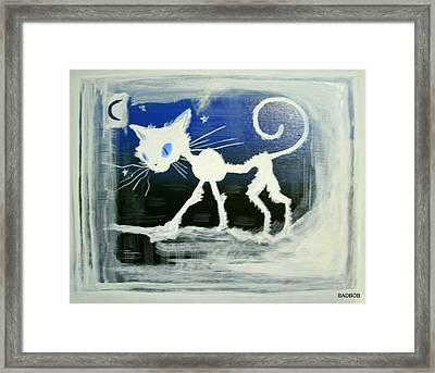 Badcat Framed Print
