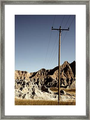 Badlands 1919 Framed Print by Holger Ostwald