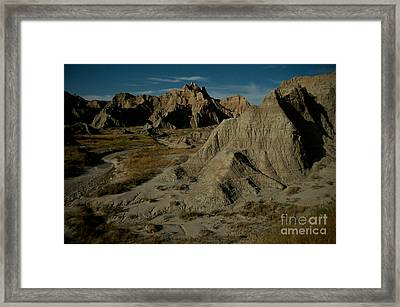 Badlands By Moonlight Framed Print by Chris Brewington Photography LLC