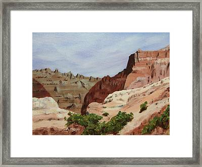 Badlands I Framed Print