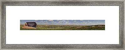 Badlands Panorama Framed Print