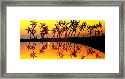 Badsummer Sun Framed Print