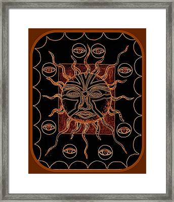 Badsunburn Framed Print