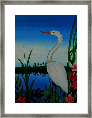 Badswan Bird Type Thing  Framed Print