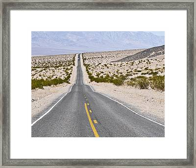 Badwater Road Framed Print