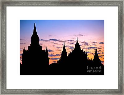 Framed Print featuring the photograph Bagan by Luciano Mortula