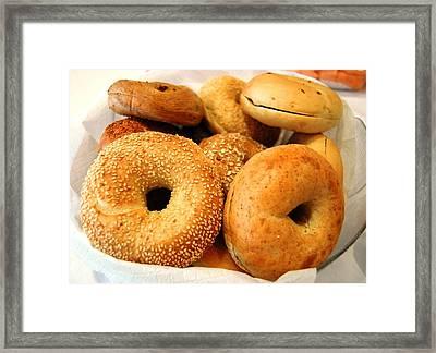 Bagels For Breakfast  Framed Print by Lissandra Melo