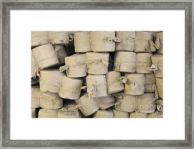 Bags Of Flax Framed Print by Magomed Magomedagaev
