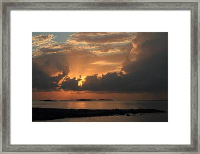 Bahamas Sunset Framed Print by Coby Cooper