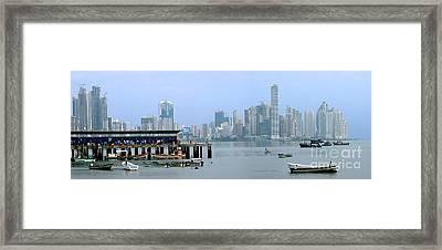 Bahia De Panama Framed Print