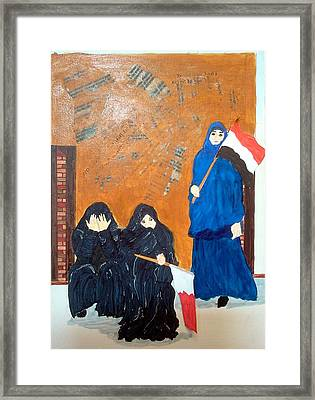 Bahraini Women Framed Print by Andrea Friedell