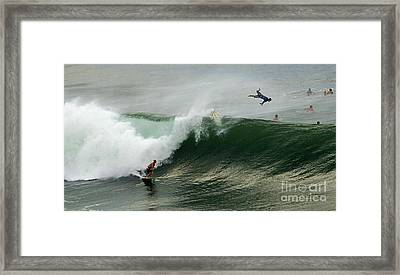 Bailing Framed Print by Bob Christopher