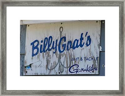 Bait And Tackle Framed Print by Mark J Seefeldt