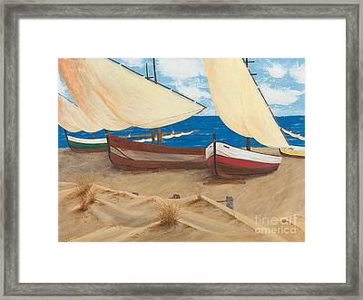 Baja Beach Dunes Framed Print