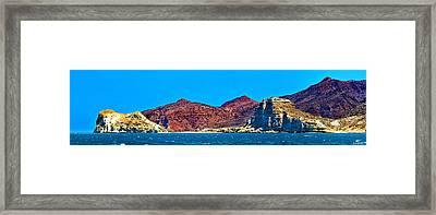 Baja Coastline Framed Print by Russ Harris