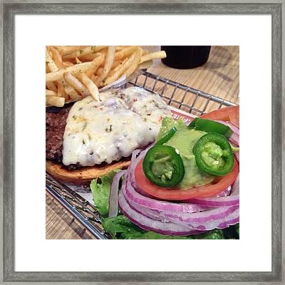 Baja Spicy Burger: #jonspics #burger Framed Print