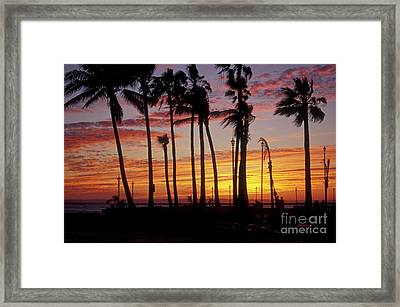 Framed Print featuring the photograph Baja Sunset La Paz  Mexico by John  Mitchell