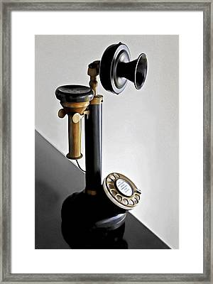Bakelite Candlestick Analogue Telephone Framed Print